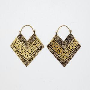 Brass Diamong Hanging Earrings